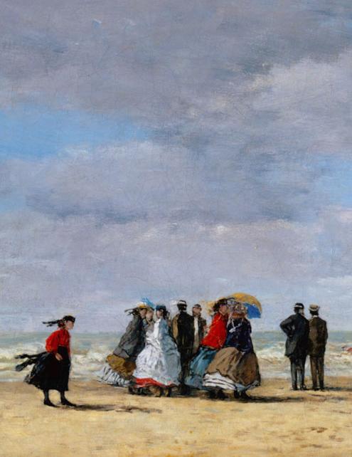 Boudin, plage à Trouville (fragment)