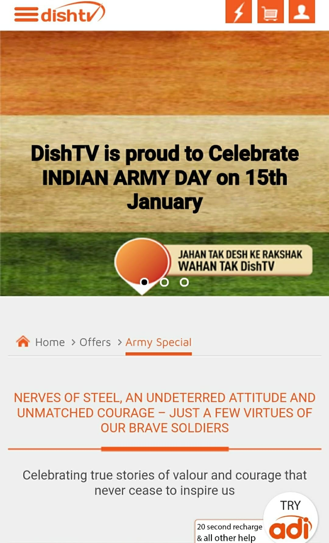 defence dish tv offer