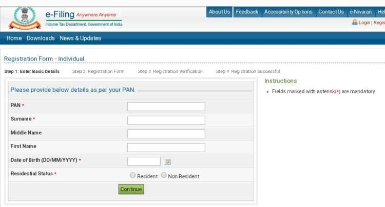 income tax return sign up