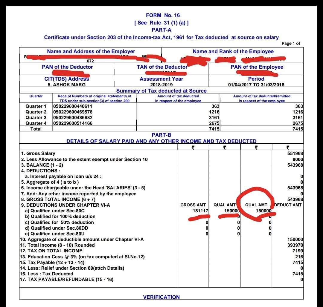 income tax return form 16