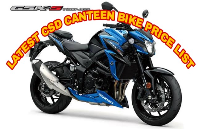 CSD Canteen bike price list 2019 हुई जारी