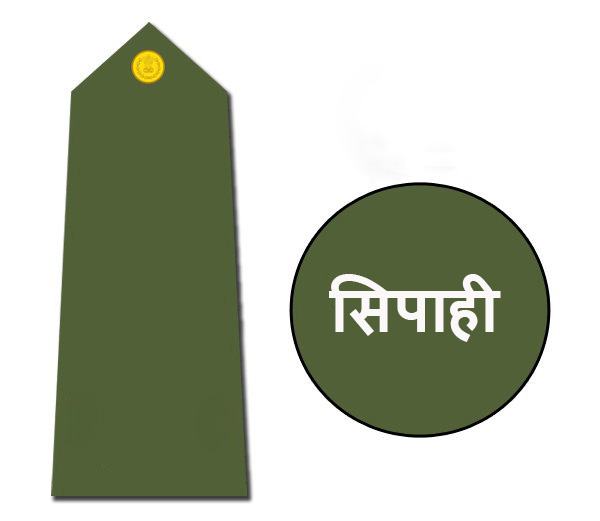 Indian army rank sepoy