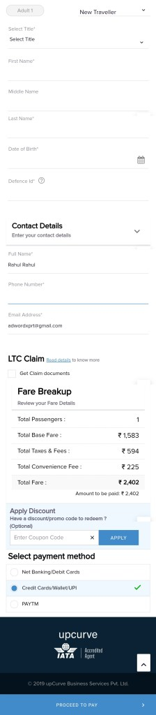Udchalo flight booking