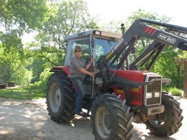 Le tracteur de la ferme