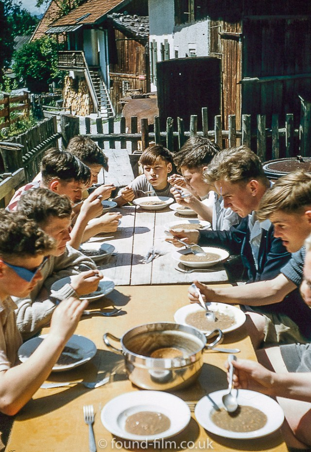 Eating Al Fresco at Partenkirchen