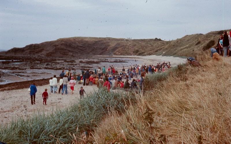 Public gathering on a beach