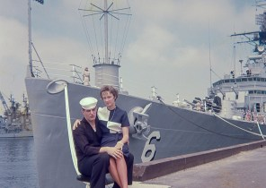Sailor and Wife by US warship