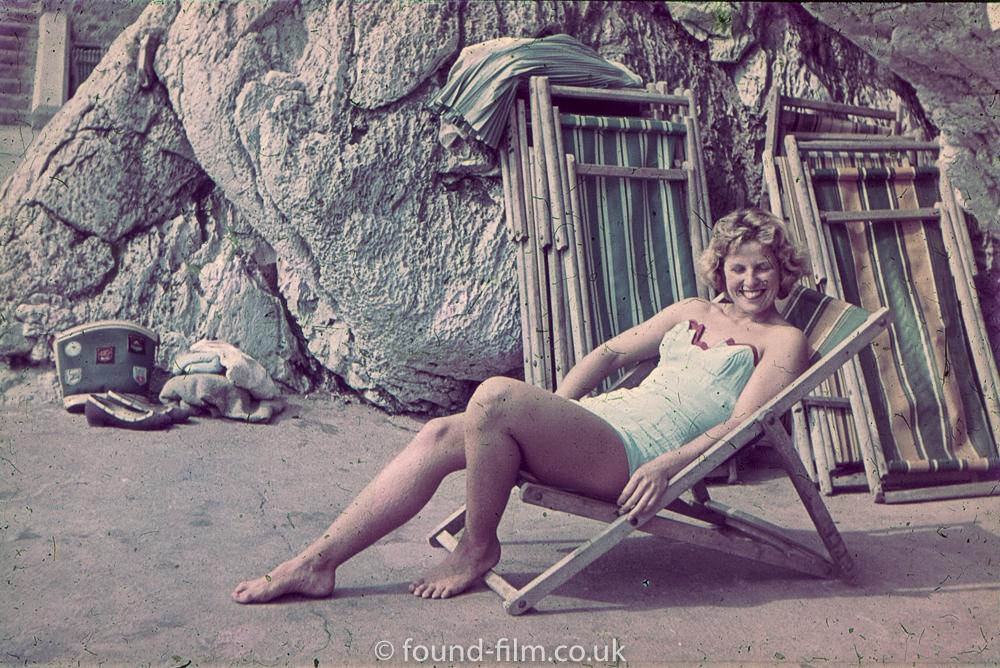 Girl in deckchair