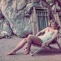 Girl in deckchair