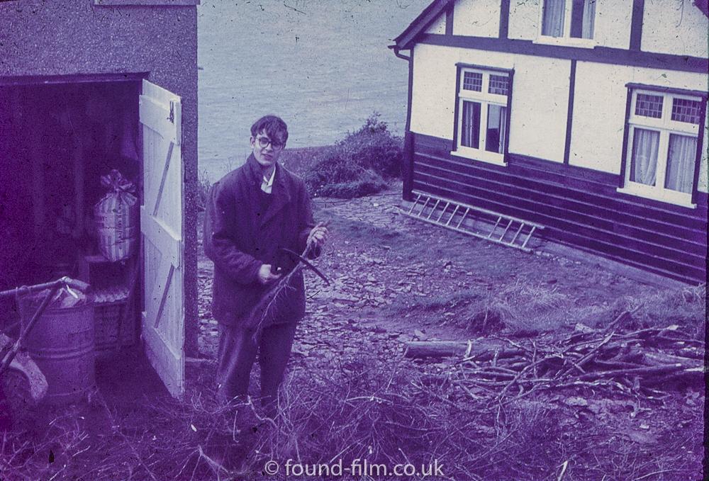 Jim in the garden - 1958