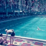 Odd decorative swimming pool