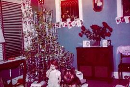 Small child at Christmas