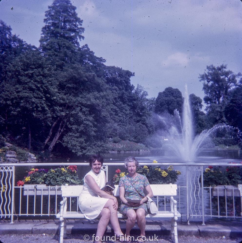 Two ladies posing