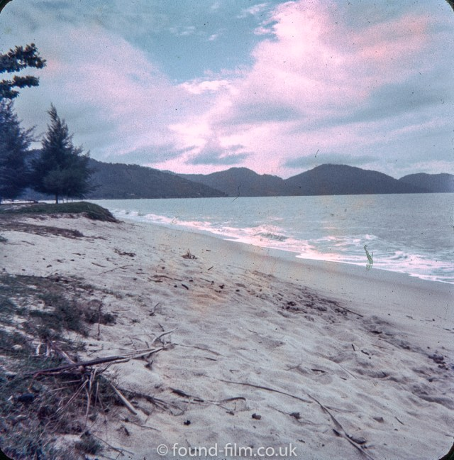 A beach in Singapore in the early 1960s