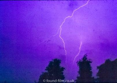 Lightning strike captured on film