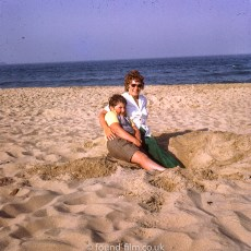 Photo on the beach with Mum during a holiday