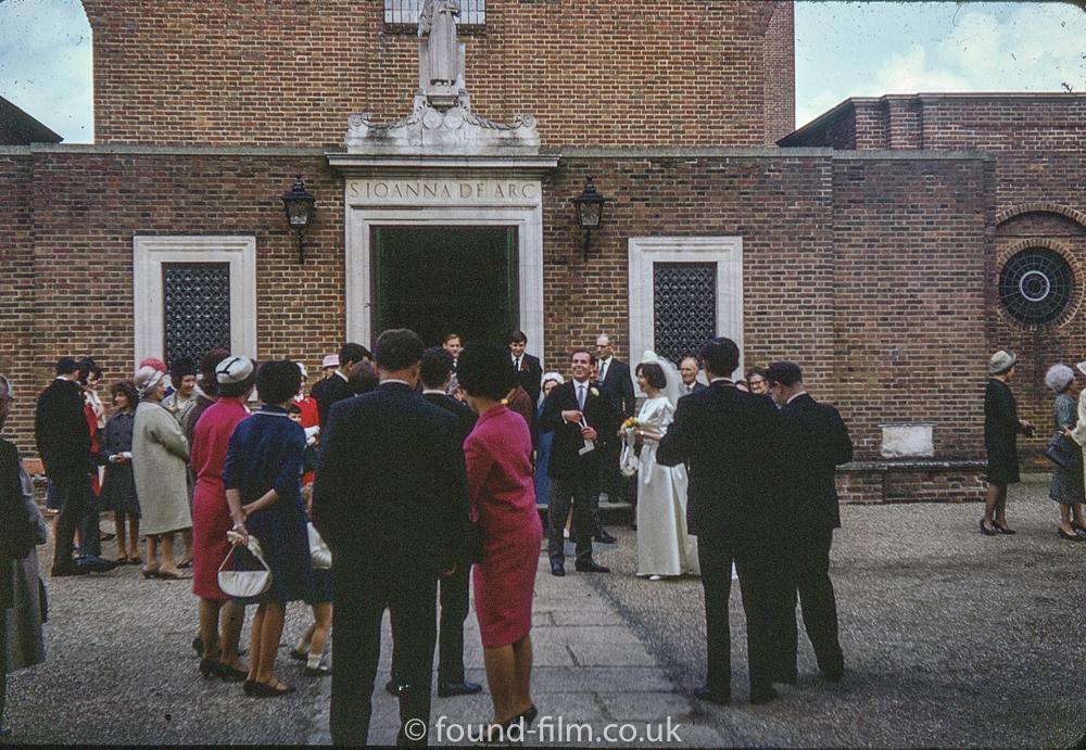 Wedding Party at St Joan of Arc church, Farnham in 1966