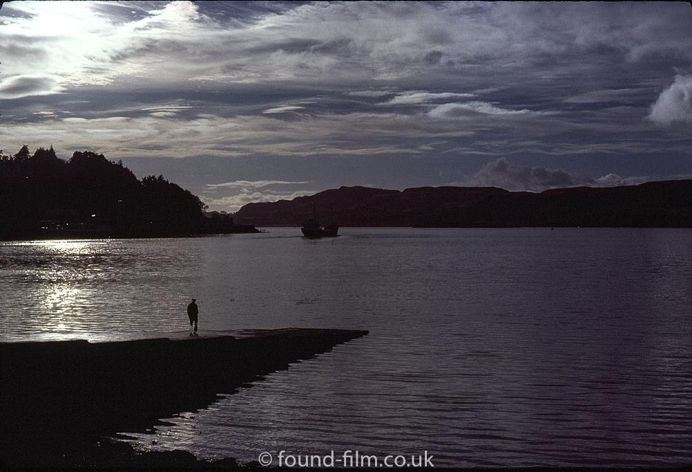 Beautiful silhouette seascape