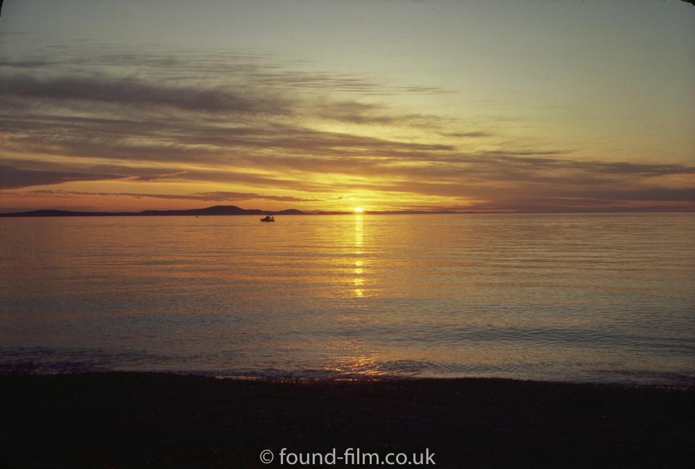 A beautiful sunset over the sea