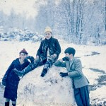 Boys playing in the snow in the winter of 1962?