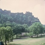 Edinburgh Castle and the Park below in 1970