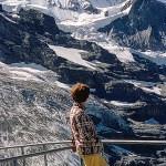 Jungfrau Mountain Scene Switzerland from August 1967