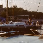 A Sailing boat in the evening dusk, August 1979