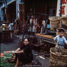 Singapore market sellers - early 1960s