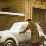 Snow covered car in the south of France – Jan 1954