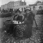 Tea on the beach at Herne Bay in 1927