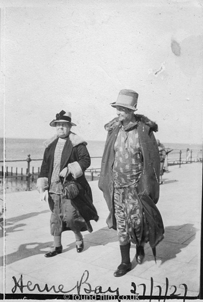 Two women in Herne Bay - 1927
