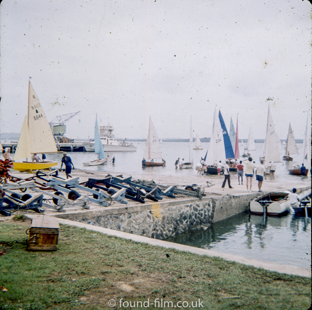 Yacht club in Singapore Harbour in the early 1960s