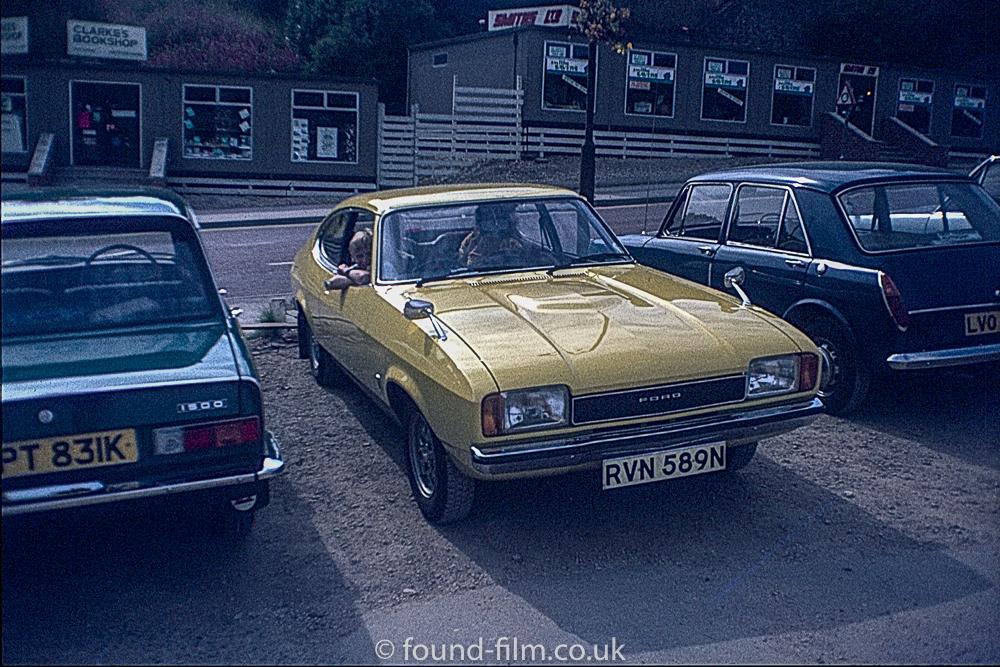 Yellow ford capri