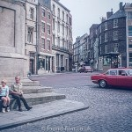 English city, probably Durham, in the 1970s