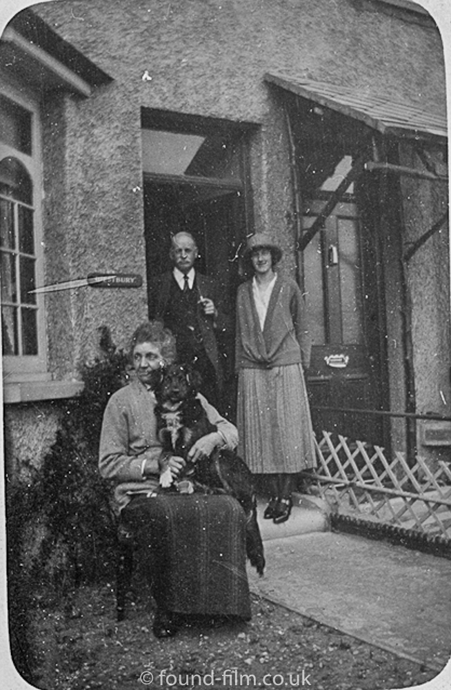 Group outside their home