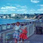 little girls by railing