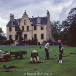 A spot of gardening at an impressive house – Sept 1971
