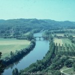 River with bridge and hills in the background, September 1979