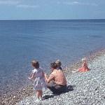 Family beach snap shot