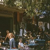 Greek street cafe scene from September 1966
