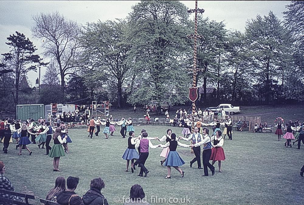 Dancing at a village fete