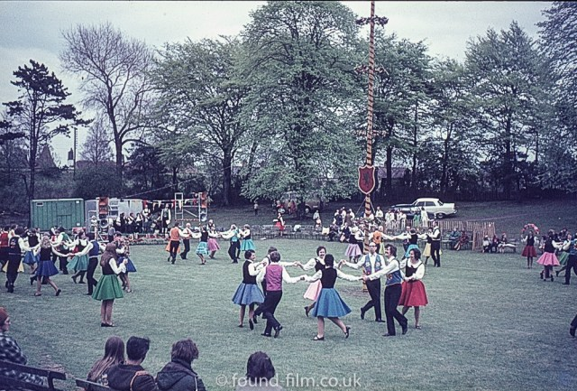 Dancing at a village fete