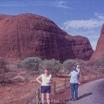 Pictures of Ayres Rock - presumably the photographer or family member