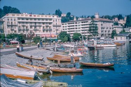 Boats and Hotels at Lugano Switzerland