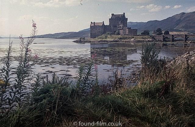 Eilean Donan Castle with foreground grass