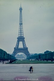 The Eiffel tower in Paris in about 1960