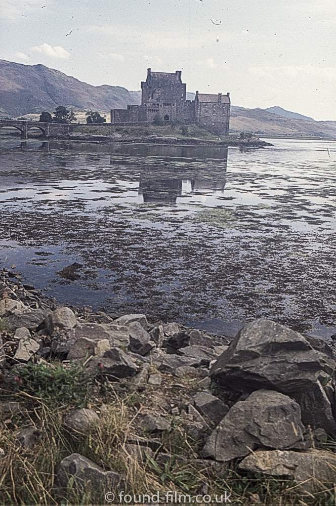 Eilean Donan Castle showing reflection in loch