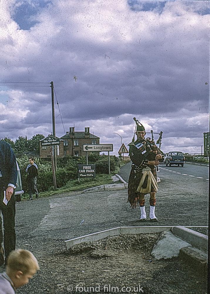 A piper at Gretna Green in 1967