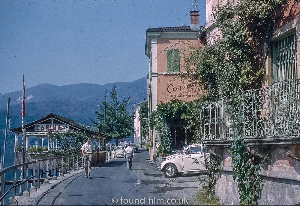 The Hotel Carina at Morcote in Switzerland pictured in about 1961