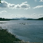 The look of Ilford film - A shoreline with a cantilever bridge